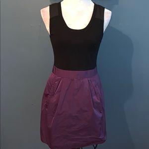 Theory | Black/Purple 'Dristi' Sleeveless Dress